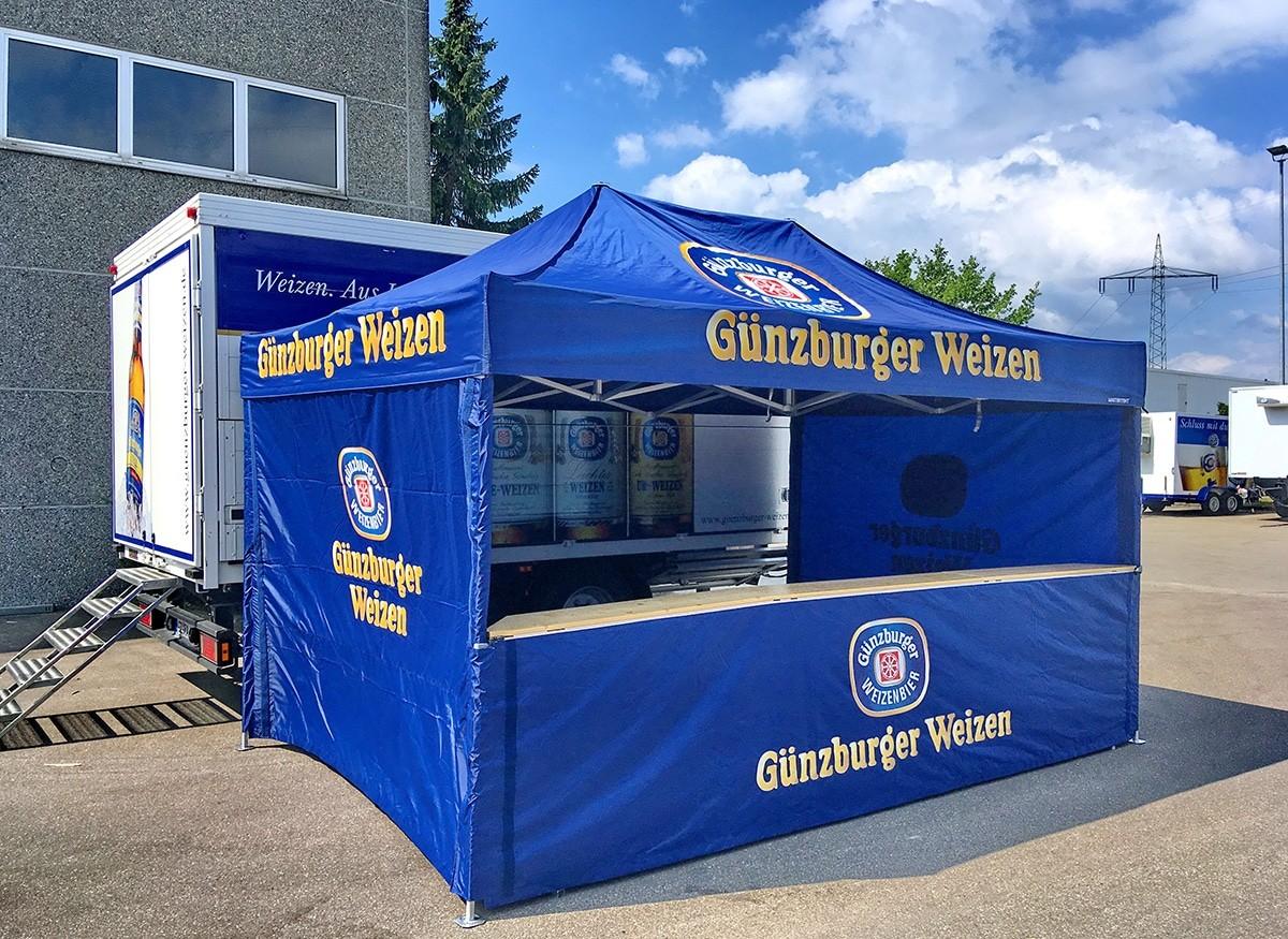 Radbrauerei Gebr. Bucher –Günzburger Weizen – Mietservice, Ausschankzelt
