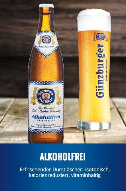 Radbrauerei Gebr. Bucher –Günzburger Weizen – Alkoholfrei