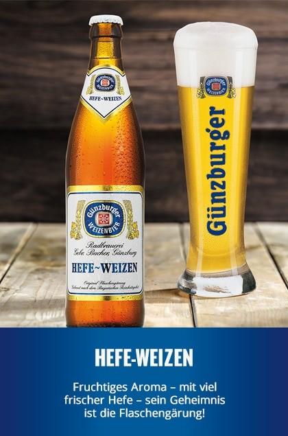 Radbrauerei Gebr. Bucher –Günzburger Weizen – Hefe-Weizen
