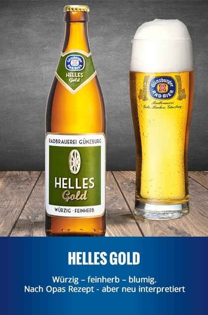 Radbrauerei Gebr. Bucher –Günzburger Weizen – Helles Gold