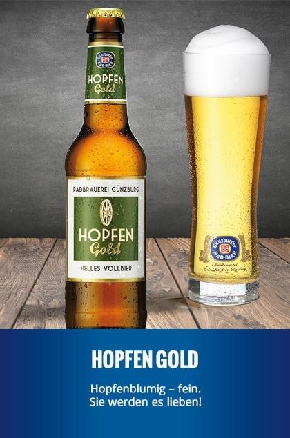 Radbrauerei Gebr. Bucher –Günzburger Weizen – Hopfen Gold
