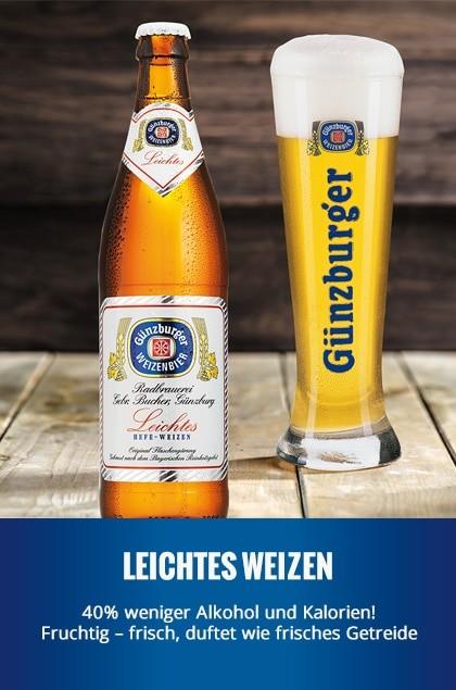 Radbrauerei Gebr. Bucher –Günzburger Weizen – Leichtes Weizen