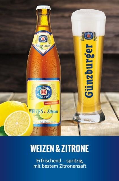 Radbrauerei Gebr. Bucher –Günzburger Weizen – Weizen & Zitrone