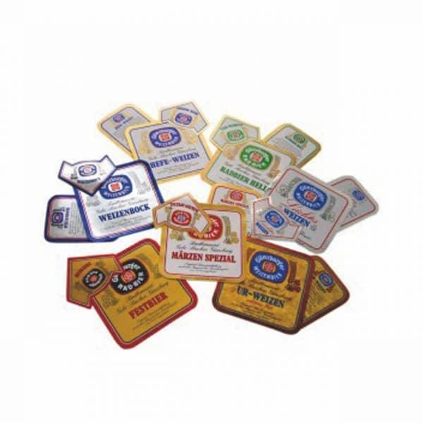 Radbrauerei Gebr. Bucher –Günzburger Weizen – Shop, Satz Etiketten